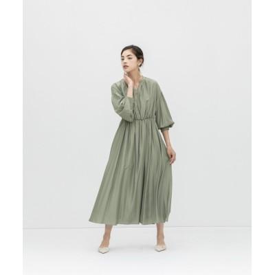 【スメラルダ】 ボリュームパススリーブドレス レディース グリーン F smeralda