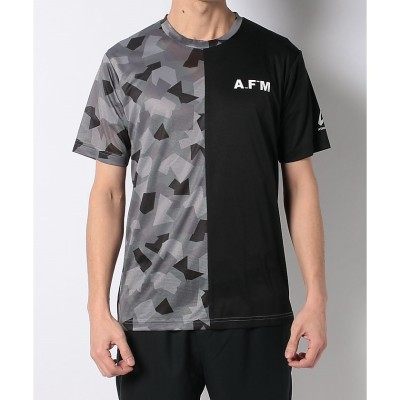 ATHFORM(アスフォーム) RUNピーチカモ半袖Tシャツ M BLK メンズ AF-S20-008-041