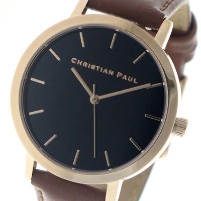 クリスチャンポール CHRISTIAN PAUL 腕時計 レディース クォーツ RBR3512 ロウ RAW ブラック