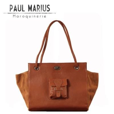 SALE / 本革 トートバッグ フロント ポケット   MDM-35 ブラウン / PAUL MARIUS ポール・マリウス レザー ナチュラル A4サイズ