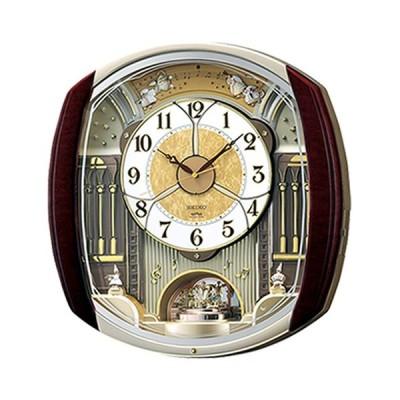 【お取寄せ品】セイコークロック ウェーブシンフォニー からくり 電波掛時計 RE564H
