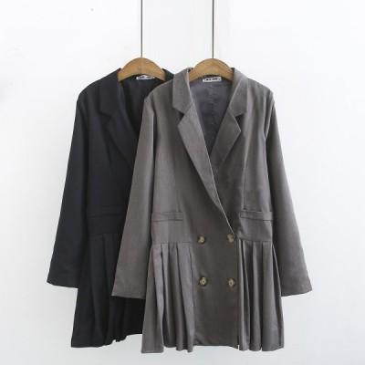 レディース ジャケット テーラードジャケット アウター 上着 羽織り プリーツ ボックスプリーツ 大人 きれいめ 上品