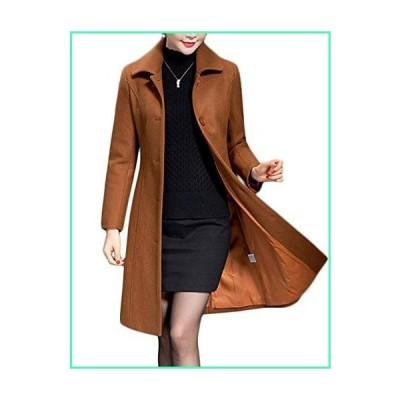 Jenkoon Women's Wool Trench Coat Winter Long Thick Overcoat Walker Coat (Caramel, Medium)並行輸入品
