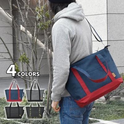 ショルダーバッグ メンズ 斜めがけ おしゃれ 大きめ 大容量 A4 ポリキャンバス 2way トートバッグ