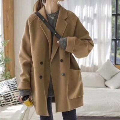 コート チェスターコート アウター 長袖 ダブルボタン 無地 秋 冬 通勤 通学 きれいめ プチプラ 安い ゆったり 大きいサイズ
