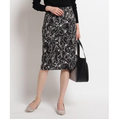COUP DE CHANCE / 【洗える】フラワータイトひざ丈スカート WOMEN スカート > スカート