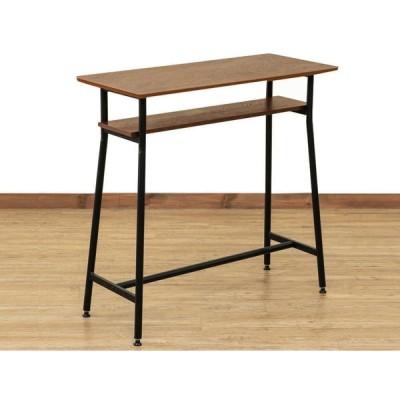[送料無料・カード払・前払限定]カウンターテーブル約W90xD40xH87cm ウォールナット*書斎用テーブル、キッチン、パソコン用、イートインにも