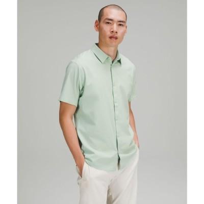 ルルレモン lululemon メンズ 半袖シャツ トップス Airing Easy Short Sleeve Shirt Heathered Arctic Green