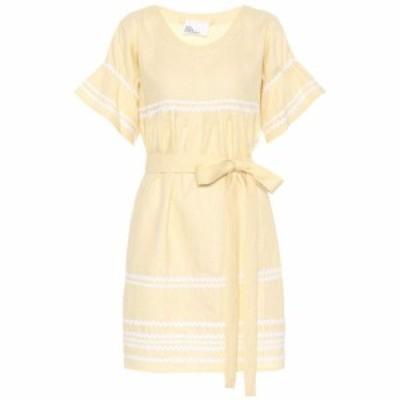 リサ マリー フェルナンデス Lisa Marie Fernandez レディース ワンピース ワンピース・ドレス Fiesta linen dress Pale Yellow