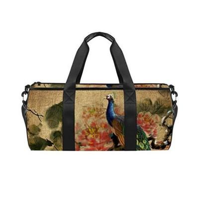 Sport Duffel Bag Ancient Flowers And Birds Gym Bag Kids Swimming Bag Weeken