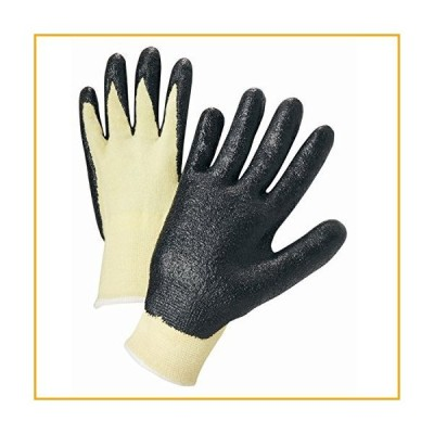 West Chester 713KSNF/M 13 Gauge Kevlar Knit Shell, Black Foam Nitrile Coated Palm. Dozen【並行輸入品】