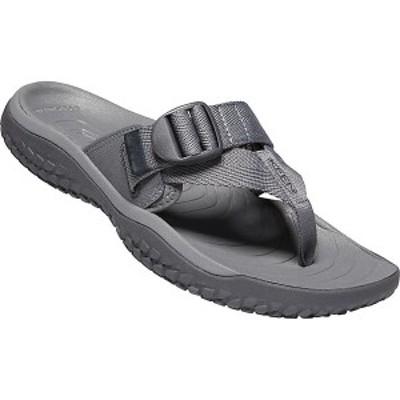 (取寄)キーン メンズ ソーラー トゥ ポスト サンダル Keen Men's Solr Toe Post Sandal Steel Grey / Magnet