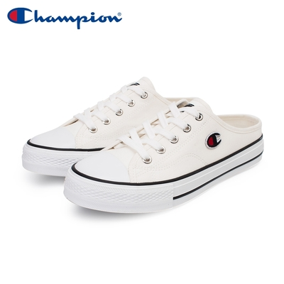 【Champion】女 帆布鞋 穆勒鞋 CANVAS SLIP-白(WSLS-1014-00)