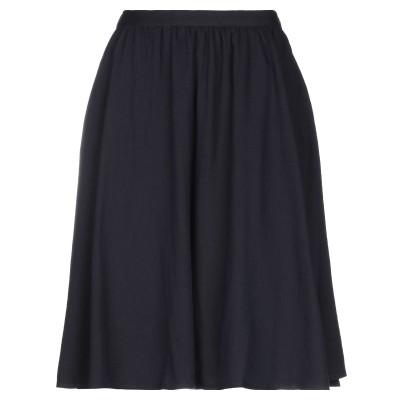 アメリカン ヴィンテージ AMERICAN VINTAGE ひざ丈スカート ダークブルー S コットン 60% / ウール 40% ひざ丈スカート