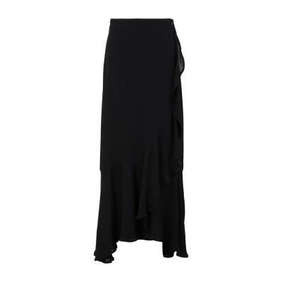 2ND DAY ロングスカート ブラック 36 レーヨン 100% ロングスカート