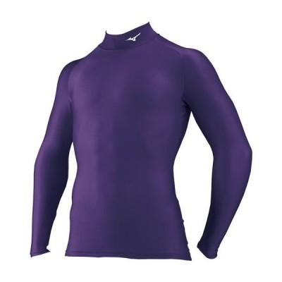 ミズノ公式 ドライアクセルバイオギアシャツ ハイネック長袖 メンズ インペパープル