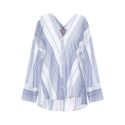 CALIBAN 820 シャツ ホワイト 40 コットン 52% / リネン 48% シャツ