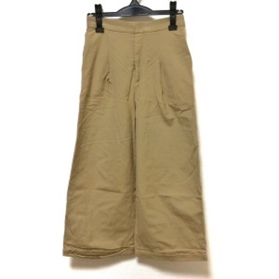 【BIG SALE対象】エンフォルド ENFOLD パンツ サイズ36 S レディース 美品 - ライトブラウン クロップド(半端丈)【中古】20210322