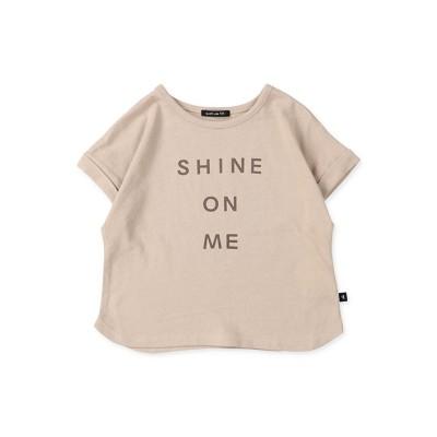 quoti use fith ガーゼ天竺 SHINE ON ME 半袖Tシャツ ベージュ 100