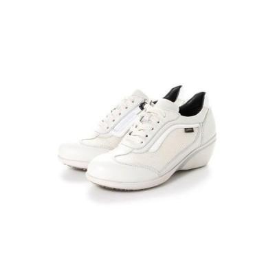 マドラスウォーク madras Walk 【GORE-TEX】 防水・透湿・脱ぎ履き楽なファスナー付ヒールスニーカー MWL1009 (ホワイト)