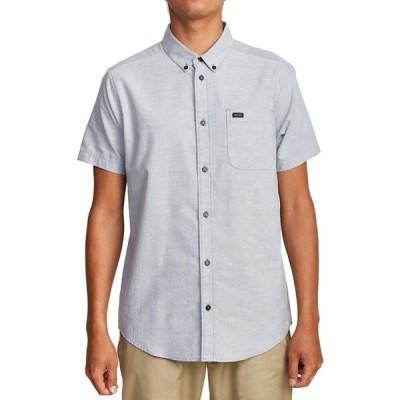 ルーカ RVCA メンズ 半袖シャツ トップス That'll Do Stretch Short - Sleeve Shirt Oxford Blue