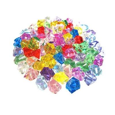 RADISSY アクリルストーン クリスタルストーン アイスキューブ 190粒 カラー全3種 (ミックス)