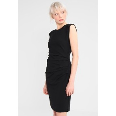 カフェ レディース ワンピース トップス INDIA O NECK - Shift dress - black black