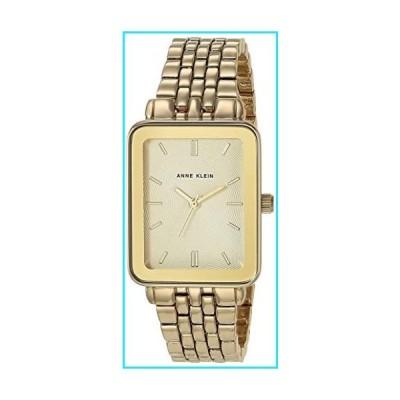 Anne Klein Women's Gold-Tone Bracelet Watch with Rectangular Case, AK/3614【並行輸入品】