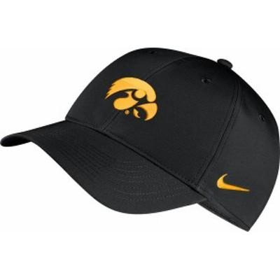 ナイキ メンズ 帽子 アクセサリー Nike Men's Iowa Hawkeyes Legacy91 Adjustable Black Hat -