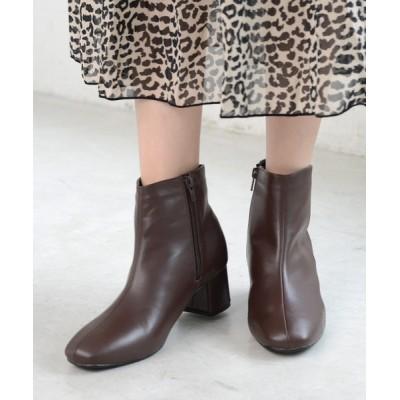 AmiAmi / スクエアトゥショートブーツ WOMEN シューズ > ブーツ