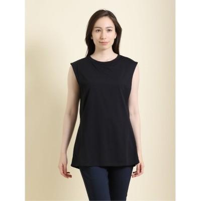 tシャツ Tシャツ ・エムエフエディトリアルレディース/m.f.editorial:Women バックシャン ノースリーブプルオーバーTシャツ