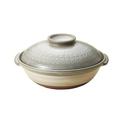 銀峯 京三島 土鍋 7号 浅型 一人鍋 ばんこ焼 日本製 K2013