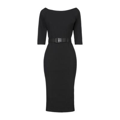 ベルナ BERNA 7分丈ワンピース・ドレス ブラック XS ポリエステル 95% / ポリウレタン 5% 7分丈ワンピース・ドレス
