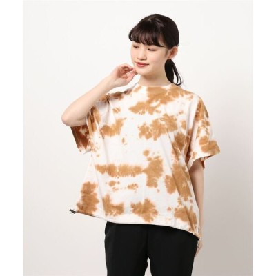 tシャツ Tシャツ タイダイ染め裾ドロストプルオーバー