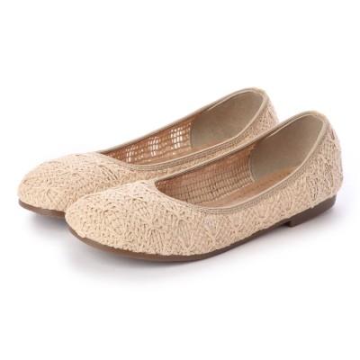 パンプス 痛くないフラット ぺたんこ コットン 綿 メッシュ 日本製  レース 走れる 歩きやすい 通気性抜群 疲れない バレエ ラウンドトゥ 夏 靴