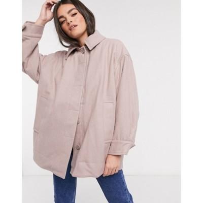 ウィークデイ レディース ジャケット・ブルゾン アウター Weekday Carli oversized jacket in beige