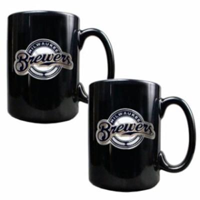 Great American Products ゲット アメリカン プロダクツ スポーツ用品  Milwaukee Brewers Black 15oz. Coffee Mug S