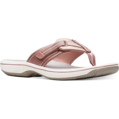 クラークス Clarks レディース サンダル・ミュール シューズ・靴 cloudsteppers brinkley jazz sandals Rose Gold-Tone