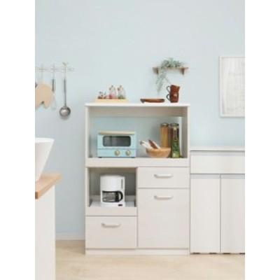 【キッチン家具】ペールカウンター -- ●品番:PKT-8670●色:オフホワイト
