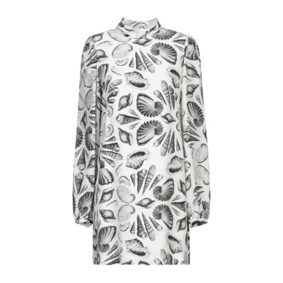 アレキサンダー マックイーン ALEXANDER MCQUEEN ミニワンピース&ドレス ホワイト 40 シルク 100% ミニワンピース&ドレス