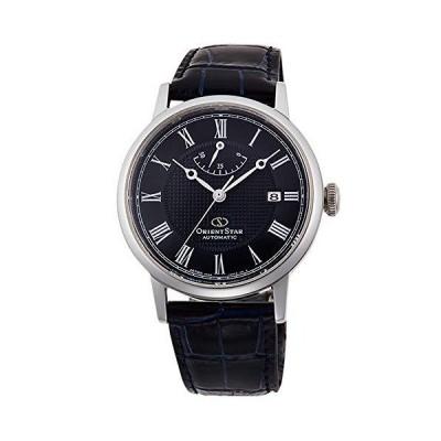 腕時計 オリエント メンズ RE-AU0003L00B Orient Star Automatic Blue Dial Black Leather Men's Watch RE