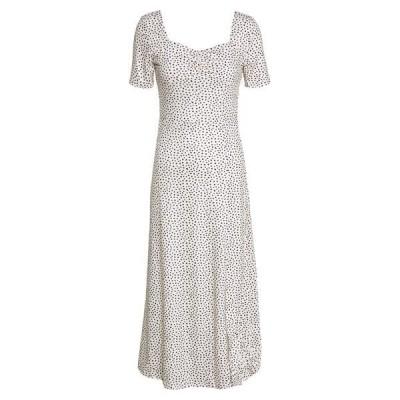 ロストインク ワンピース レディース トップス MONO PRINT FRONT SPLIT SHORT SLEEVE DRESS - Jersey dress - off-white, black