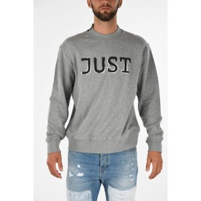 JUST CAVALLI/ジャスト カヴァリ Gray メンズ Crew-Neck Sweatshirt dk