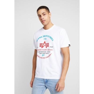 アルファインダストリーズ Tシャツ メンズ トップス Print T-shirt - white