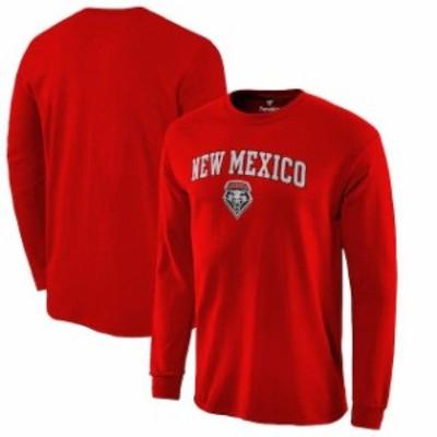Fanatics Branded ファナティクス ブランド スポーツ用品  Fanatics Branded New Mexico Lobos Red Campus Long Sleeve