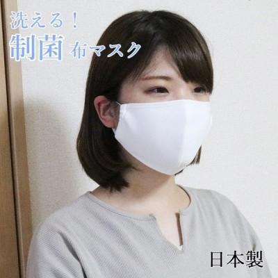 布マスク 制菌 日本製 白 大きめ 送料無料 1枚入