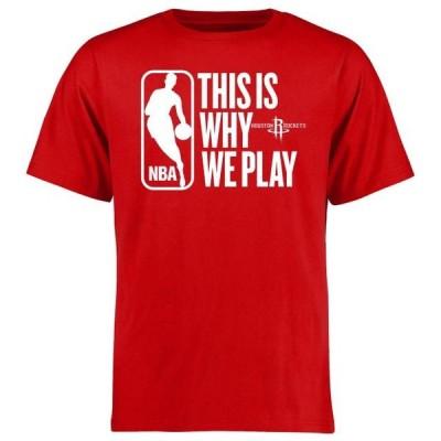 ユニセックス スポーツリーグ バスケットボール Houston Rockets This Is Why We Play T-Shirt - Red Tシャツ