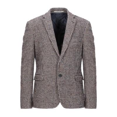 EXIBIT テーラードジャケット ブラウン 54 ウール 40% / コットン 36% / ポリエステル 16% / ナイロン 8% テーラードジ