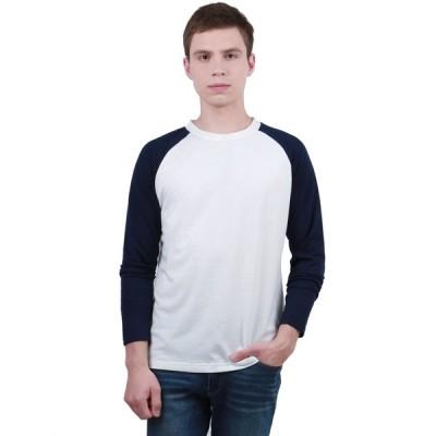uxcell Allegra K メンズ シャツ ロングラグランスリーブ カラーブロック 野球 カジュアル Tシャツ M /38 ホワイト