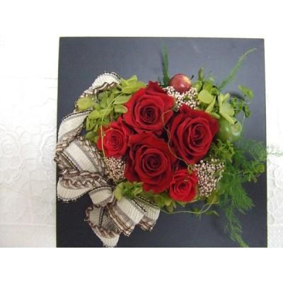 母の日 プリザーブドフラワー  結婚祝い 還暦祝い 誕生日 記念日 お祝い 贈り物 プレゼント レッド r-008